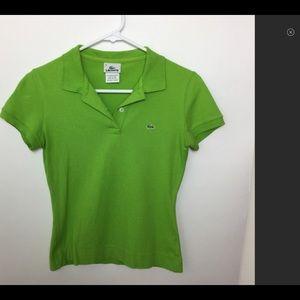 1ee8de2b Vintage 90s Green Lacoste Polo, Size 36 (XS/0)